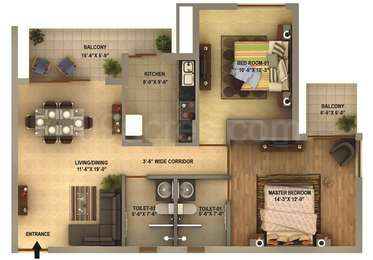 2 BHK Apartment in Ansal Estella