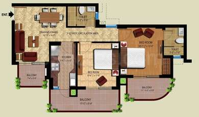 2 BHK Apartment in Royal Heritage