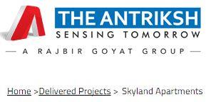 Antriksh Skyland Apartments Gurgaon