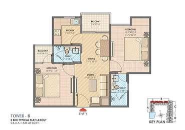 2 BHK Apartment in Anukampa Sky Lounges