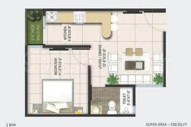 1 BHK Apartment in AKVS Surya Heights