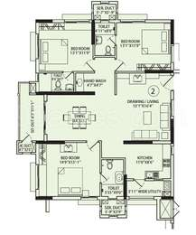 3 BHK Apartment in Aparna Sarovar