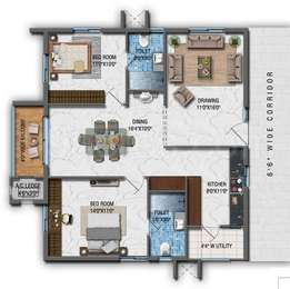 2 BHK Apartment in Aparna CyberZon
