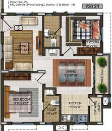 2 BHK Apartment in Aparna Kanopy Tulip