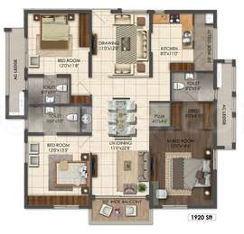 3 BHK Apartment in Aparna Sarovar Grande