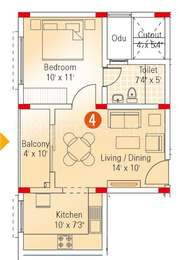 1 BHK Apartment in Appaswamy Banyan House