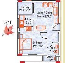 1 BHK Apartment in Appaswamy Mapleton