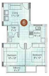 2 BHK Apartment in Appaswamy Platina