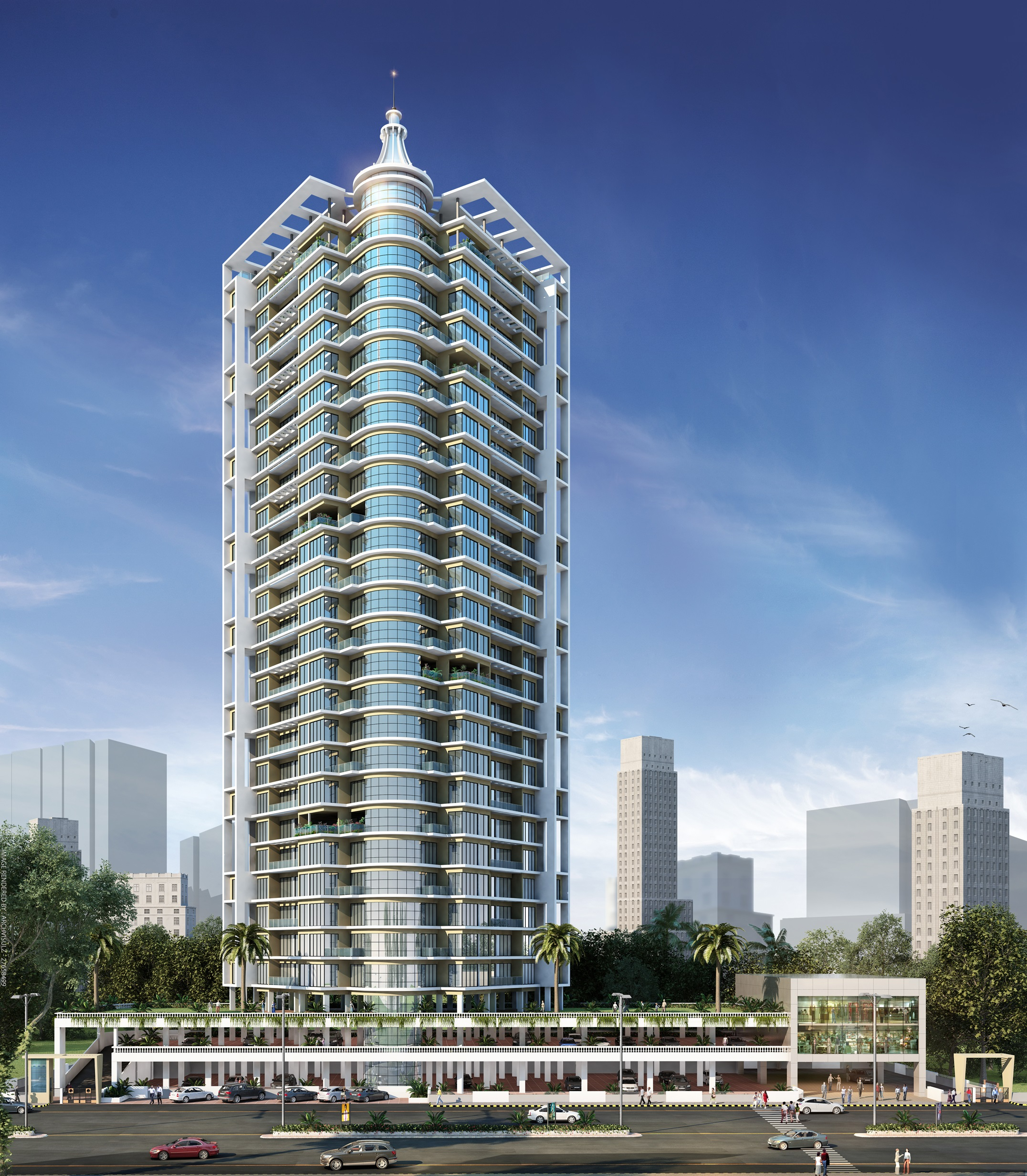 Archstone Infinity Tower Artistic Elevation Image