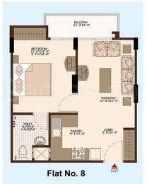1 BHK Apartment in ARG Divine Enclave