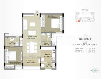 2 BHK Apartment in Arihant Esta The One