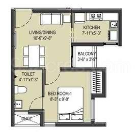 1 BHK Apartment in Arun Excello Compact Homes Narmada