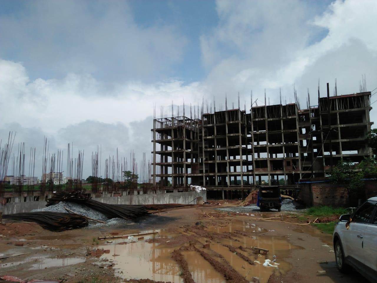 Aryan Jagannath Gardens construction status 13/08/2019