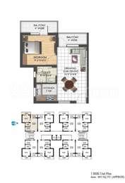 1 BHK Apartment in Aryans The Habitat