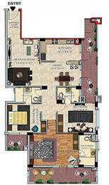 3 BHK Apartment in Ascent Royal Towers
