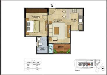 1 BHK Apartment in Coevolve Northern star