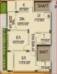 2 BHK Apartment in Atri Green Valley