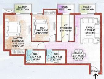2 BHK Apartment in ATS Golf Meadows