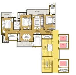 3 BHK Apartment in ATS Picturesque Reprieves