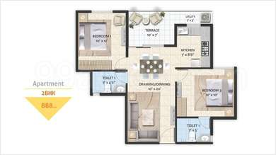 Avinash Capital Homes 2 - 2BHK+2T(14), Super Area: 888 sq ft, Apartment (1)