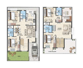 Avinash Capital Homes 2 - 4BHK+4T(39), Super Area: 1454 sq ft, Villa