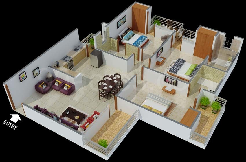 Bangalore development authority bda gunjur housing project for 3bhk house plan india