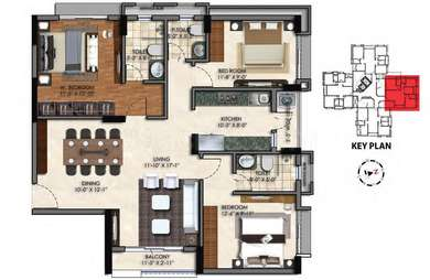 3 BHK Apartment in Swan Court
