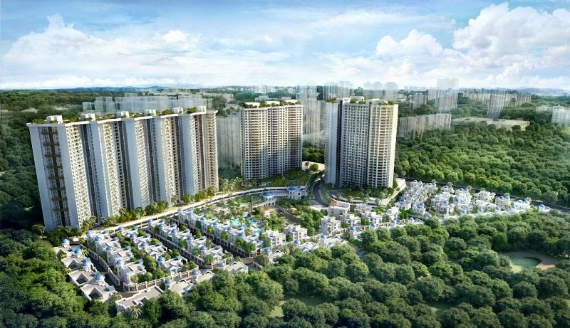 T Bhimjyani Neelkanth Woods Aerial View