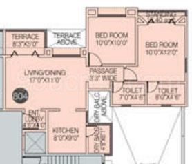 2 BHK Apartment in The Nook