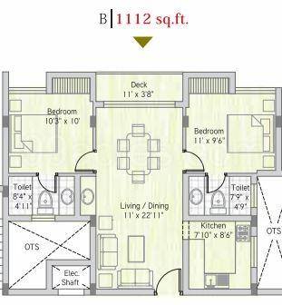 Bhoomi and Buildings Bhoomi White Rose Floor Plan - Bhoomi White ...