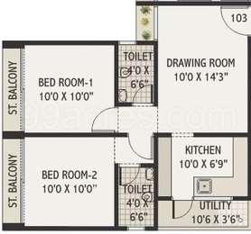 2 BHK Apartment in Binori Park Ridge