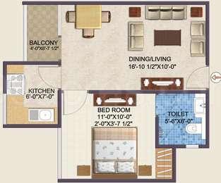 1 BHK Apartment in Wish Empire Uma Aangan