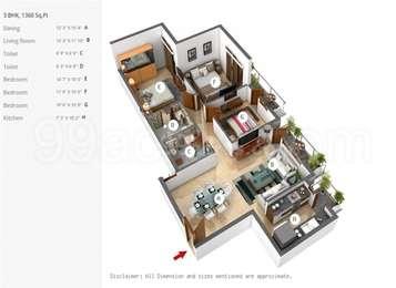3 BHK Apartment in BPTP Park Prime