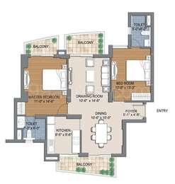 2 BHK Apartment in BPTP The Resort