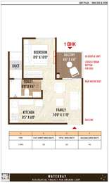 1 BHK Apartment in BramhaCorp Water Bay