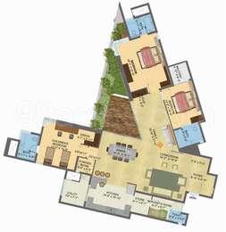 Brigade Exotica - 3BHK+5T+Servant Room(4), Super Area: 3140 sq ft, Apartment