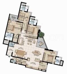 Brigade Exotica - 4BHK+6T+Store+Servant Room(5), Super Area: 3630 sq ft, Apartment