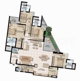 Brigade Exotica - 4BHK+6T+Store+Servant Room(6), Super Area: 3800 sq ft, Apartment