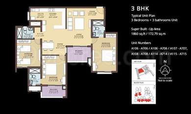 3 BHK Apartment / Flat for sale in Brigade Symphony KRS Road