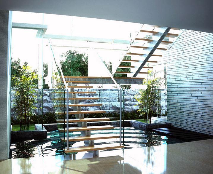 Garden View And Fountain