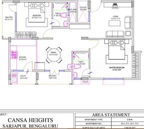 2 BHK Apartment in Cansa Heights
