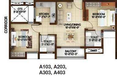 2 BHK Apartment / Flat for sale in Casagrand Nextown