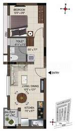 1 BHK Apartment in Casagrand Smart Town