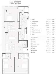 3 BHK Apartment in Ceebros One 74