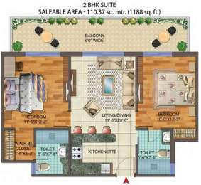 2 BHK Apartment in Central Park Flower Valley
