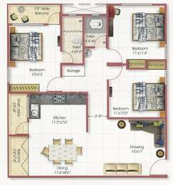 3 BHK Apartment in Century Heights