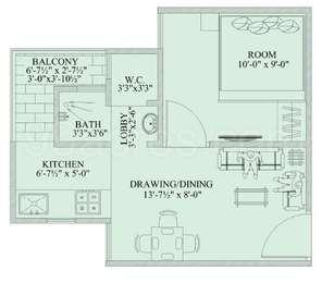 1 BHK Apartment in Chordias Atulya