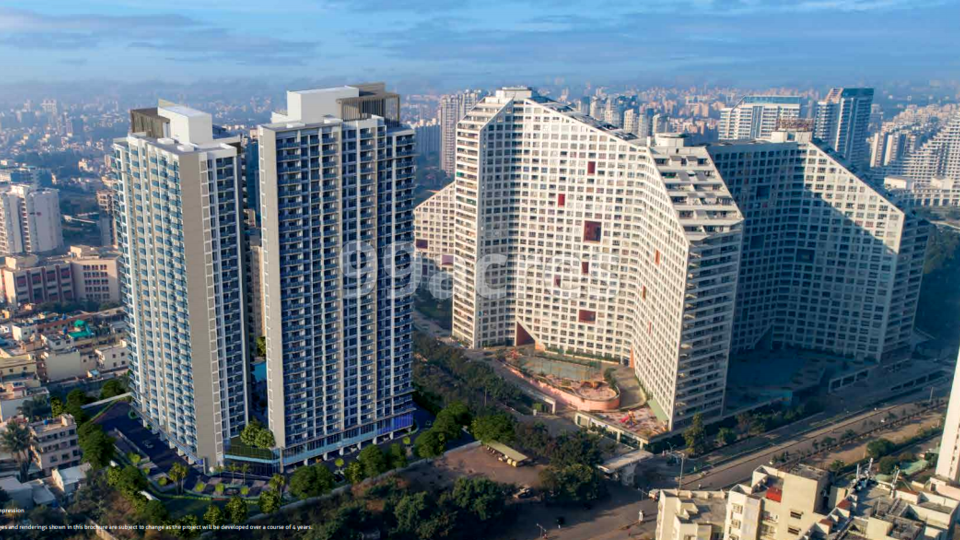 Amanora Ascent Tower Aerial View