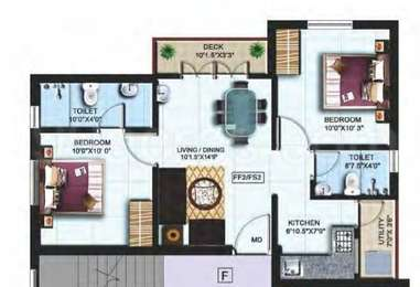 2 BHK Apartment in Color Castle