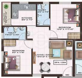 2 BHK Apartment in Colorhomes Gates